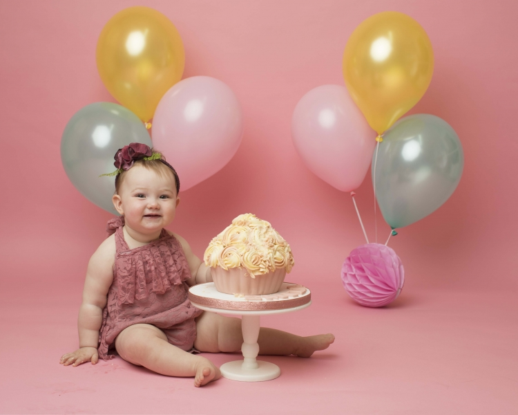 Cake Smash at award winning photo studio in Wirral