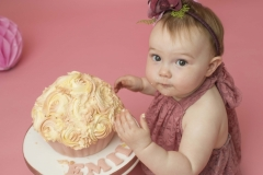 Cake Smash at award winning photography studio in Wirral