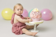 Cake smash at Wirral Merseyside photo studio in Hoylake