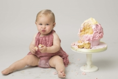 Cake smash at Wirral Merseyside photography studio in Hoylake