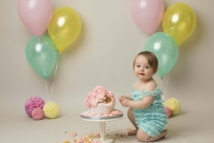 Cake smash at Wirral Merseyside family photo studio in Hoylake