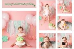 Cake Smash and Splash for Girls 1st Birthday - Cheshire and Wirral Photo Studio