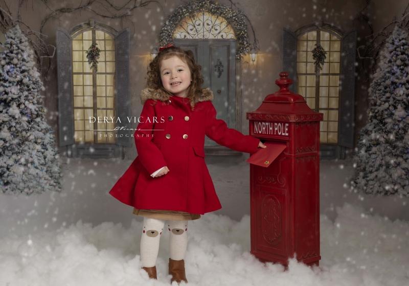 Girl delivering her santa letter - Cheshire