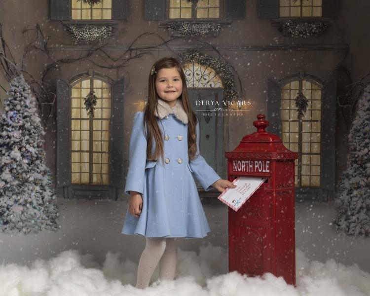 Girl delivering her santa letter - Wirral