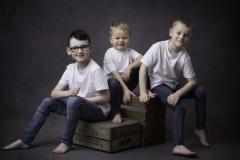 Three boys at a family photo shoot Wirral