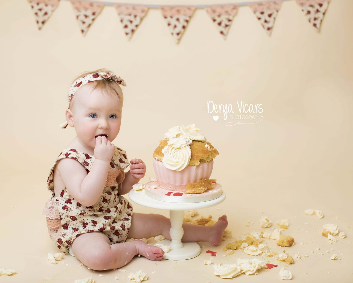 Baby Eating Cake During Cake Smash Wirral
