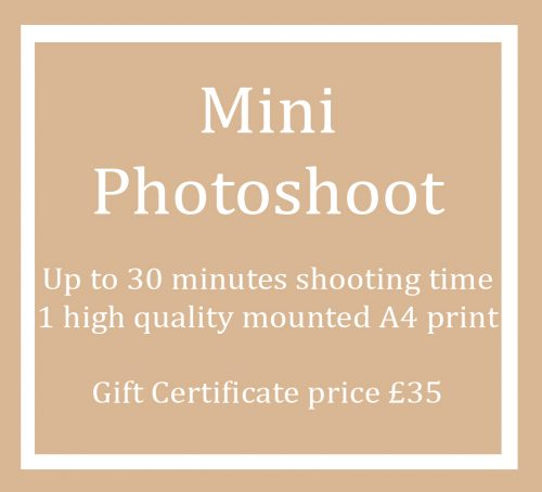 Gift Certificate Voucher for a Mini Photo Shoot Session