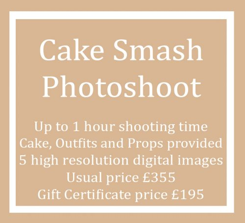 Gift Certificate Voucher for a Cake Smash Photo Shoot Session