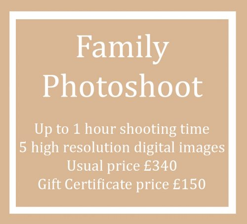 Gift Certificate Voucher for a Family Photo Shoot Session