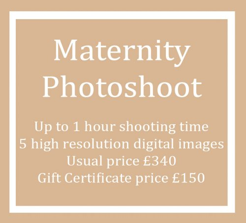 Gift Certificate Voucher for a Maternity Photo Shoot Session