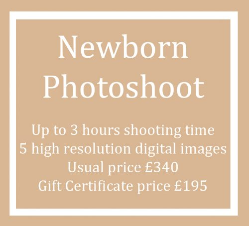 Gift Certificate Voucher for a Newborn Baby Photo Shoot Session