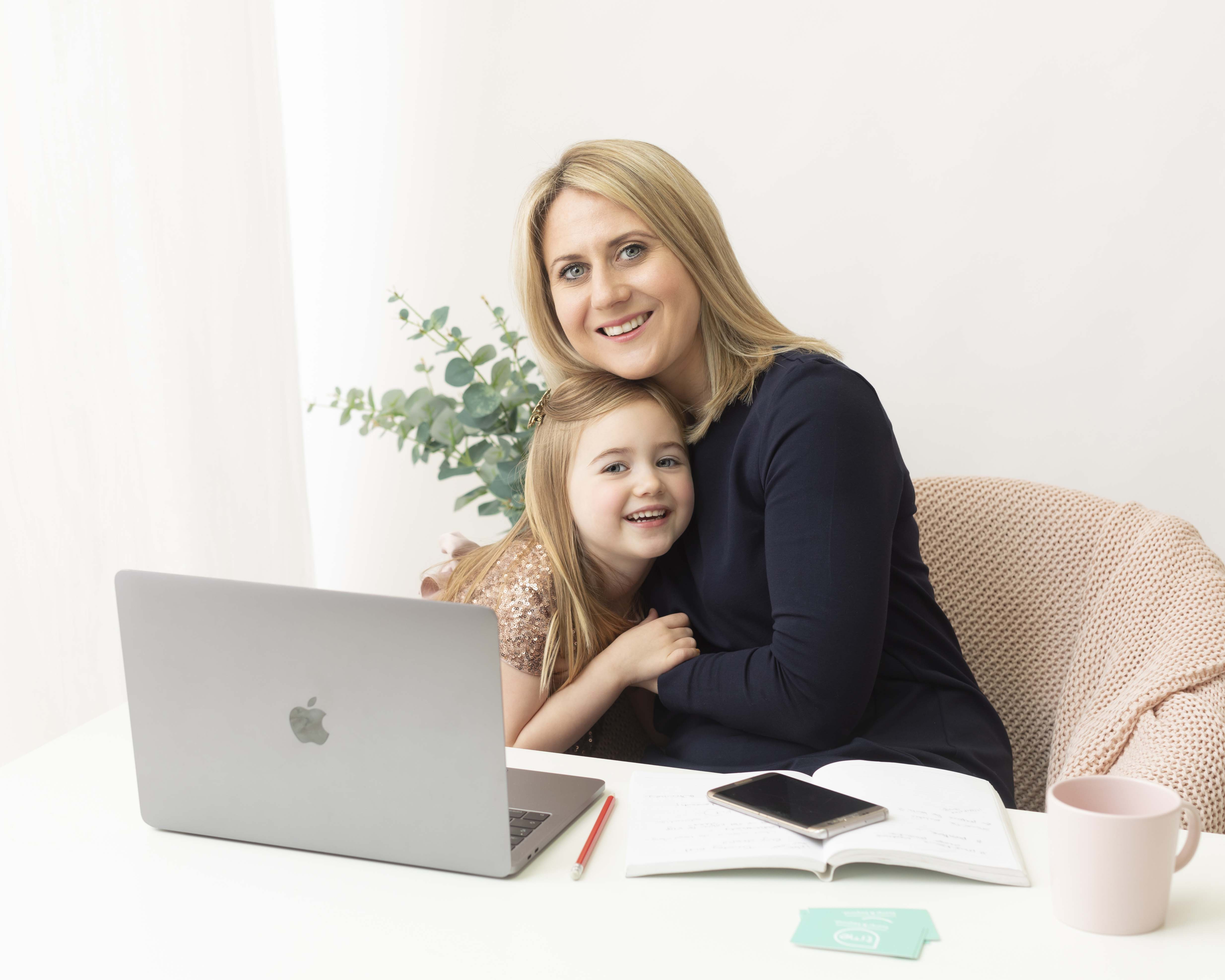 Wirral Hypnobirthing Consultant Having a cuddle with her daughter.